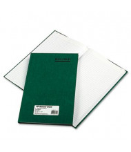 "National Brand 7-1/4"" x 12-1/4"" 150-Page Emerald Account Book, Green Cover"