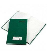 """National Brand 7-1/4"""" x 12-1/4"""" 300-Page Emerald Account Book, Green Cover"""