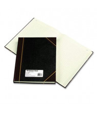"National Brand 8-3/8"" x 10-3/8"" 300-Page Texhide Account Book, Black/Burgundy Cover"