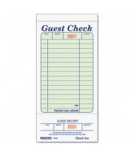 "Rediform 3-3/8"" x 6-1/2"" 50-Page Tear-Off Guest Check Book"