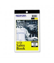 "Rediform 4-1/4"" x 6-3/8"" 50-Page 3-Part Carbonless Sales Book"