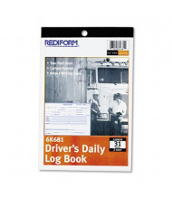 "Rediform 5-1/2"" x 7-7/8"" 31-Page 2-Part Carbonless Driver's Daily Log"