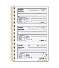 "Rediform 5"" x 2-3/4"" 225-Page 2-Part Gold Standard Money Receipt Book"