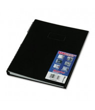 "Rediform Blueline NotePro 8-1/2"" X 11"" 150-Sheet College Rule Wirebound Notebook, Black Cover"