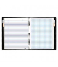 "Rediform Blueline NotePro 7-1/4"" X 9-1/4"" 96-Sheet Quadrille Rule Wirebound Notebook, Black Cover"