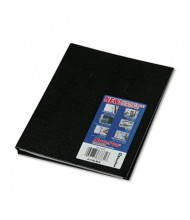"Rediform Blueline NotePro 7-1/4"" X 9-1/4"" 75-Sheet College Rule Wirebound Notebook, Black Cover"