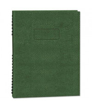 "Rediform Blueline NotePro 7-1/4"" X 9-1/4"" 75-Sheet College Rule Wirebound Exec Notebook, Green Cover"