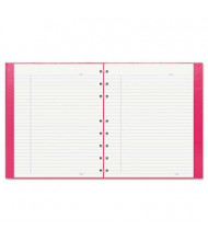 "Rediform Blueline NotePro 7-1/4"" X 9-1/4"" 75-Sheet College Rule Wirebound Notebook, Bright Pink Cover"