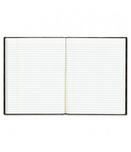 "Rediform Blueline EcoLogix 7-1/4"" X 9-1/4"" 75-Sheet College Rule Notebook, Black Cover"