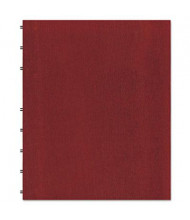 "Rediform Blueline MiracleBind 9-1/16"" X 11"" 75-Sheet College Rule Notebook, Red Cover"