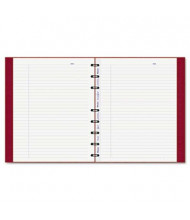 "Rediform Blueline MiracleBind 7-1/4"" X 9-1/4"" 75-Sheet College Rule Notebook, Red Cover"