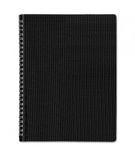 "Rediform Blueline Duraflex 8-1/2"" X 11"" 80-Sheet College Rule Notebook, Black Cover"