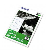 """Rediform 6-7/8"""" x 2-3/4"""" 200-Page 3-Part Hardcover Numbered Money Receipt Book"""
