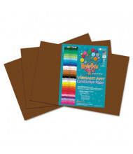 "Roselle Vibrant Art 12"" x 18"", 58 lb, 50-Sheets, Dark Brown Heavyweight Construction Paper"