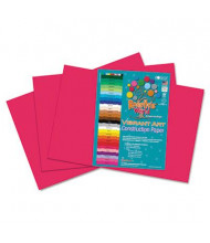 "Roselle Vibrant Art 12"" x 18"", 58 lb, 50-Sheets, Scarlet Heavyweight Construction Paper"
