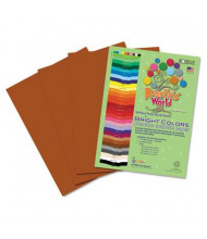 "Roselle Bright Colors 12"" x 18"", 76 lb, 50-Sheets, Brown Sulphite Construction Paper"