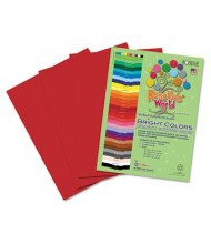 "Roselle Bright Colors 9"" x 12"", 76 lb, 50-Sheets, Scarlet Sulphite Construction Paper"