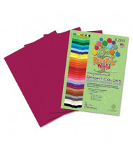"Roselle Bright Colors 12"" x 18"", 76 lb, 50-Sheets, Magenta Sulphite Construction Paper"