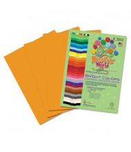 "Roselle Bright Colors 12"" x 18"", 76 lb, 50-Sheets, Yellow/Orange Sulphite Construction Paper"