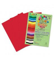 "Roselle Bright Colors 12"" x 18"", 76 lb, 50-Sheets, Festive Red Sulphite Construction Paper"