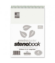 "Roaring Spring 6"" X 9"" 80-Sheet 4-Pack Gregg Rule Enviroshades Steno Notepad, Gray Paper"