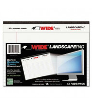 "Roaring Spring 6"" X 8"" 40-Sheet Wide Landscape Writing Pad, White Paper"