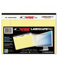 "Roaring Spring 6"" X 8"" 40-Sheet Wide Landscape Writing Pad, Canary Paper"