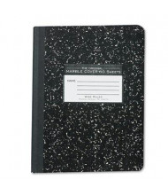 "Roaring Spring 7-1/2"" X 9-3/4"" 60-Sheet Wide Rule Composition Book, Black Marble Cover"