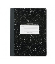 "Roaring Spring 7-1/2"" X 9-3/4"" 100-Sheet Wide Rule Composition Book, Black Marble Cover"