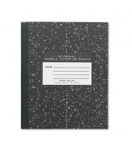 "Roaring Spring 7"" X 8-1/2"" 36-Sheet Wide Rule Composition Book, Black Marble Cover"