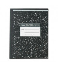 "Roaring Spring 7-1/2"" X 9-3/4"" 50-Sheet Wide Rule Composition Book, Black Marble Cover"