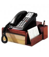 """Rolodex 4-3/4"""" H Phone Center Desk Stand, Mahogany"""