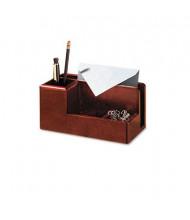 Rolodex Wood Tones Desk Organizer, Mahogany