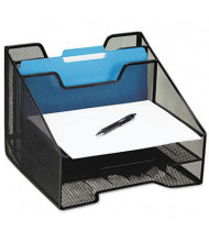 Rolodex 5-Section Letter & A4 Mesh Tray Combination Sorter, Black