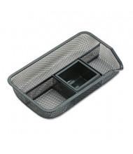Rolodex 4-Compartment Metal Mesh Desk Drawer Organizer, Black
