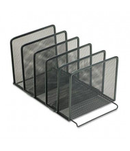 Rolodex 5-Section Mesh Stacking Sorter, Black