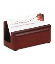 "Rolodex Wood Tones Business Card Holder, Holds 50 2 1/4"" x 4"" Cards, Mahogany"