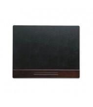 """Rolodex 19"""" x 24"""" Wood Tone Desk Pad, Mahogany/Black"""