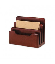 Rolodex 3-Section Wood Tones Desktop Sorter, Mahogany
