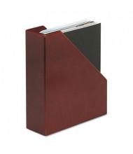 "Rolodex 3 1/2"" Wood Tones Magazine File, Mahogany"
