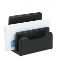 Rolodex 3-Section Wood Tones Desktop Sorter, Black