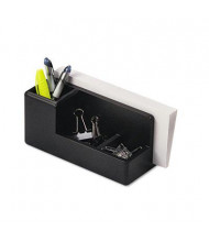 Rolodex Wood Tones Desk Organizer, Black
