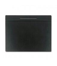 "Rolodex 19"" x 24"" Wood Tone Desk Pad, Black"