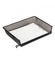 Rolodex Nestable Mesh Stacking Side-Load Wire Letter Tray, Black