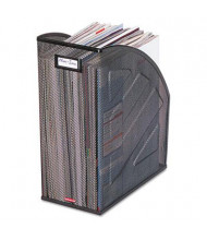 "Rolodex 5 7/8"" Nestable Rolled Steel Mesh Jumbo Magazine File, Black"