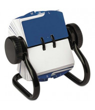 """Rolodex Open Rotary Card File Holds 250 1 3/4"""" x 3 1/4"""" Cards, Black"""