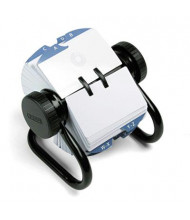"Rolodex Open Rotary Card File Holds 500 2-1/4"" x 4"" Cards, Black"