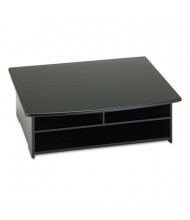 "Rolodex 6-1/2"" H Wood Tones Printer Stand, Black"