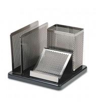 Rolodex Distinctions Desk Organizer, Metal/Black