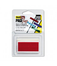 "Redi-Tag 1"" x 3/16"" Removable Reusable Page Flags, Red, 300 Flags/Pack"